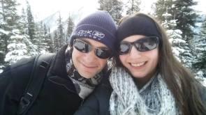 Jessica and husband Aleks in Alberta, Canada.